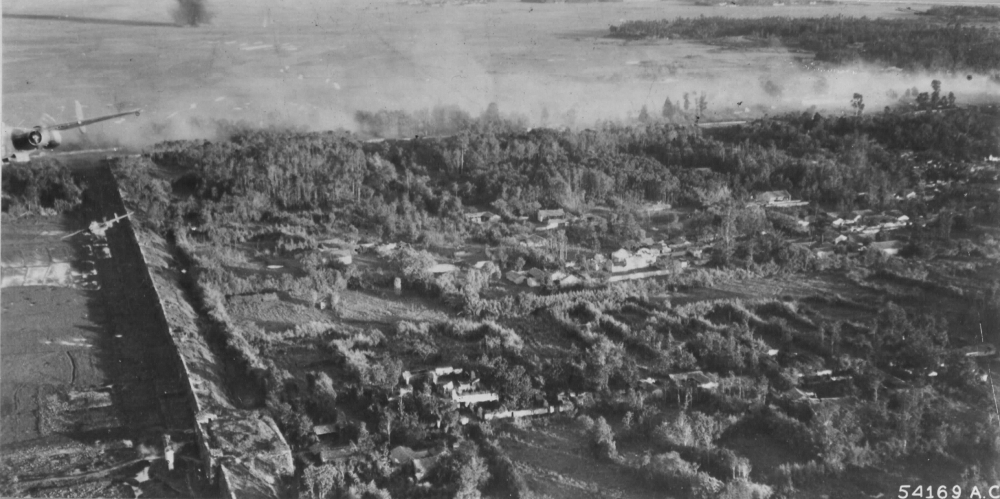 B-25s bomb the fortress city of Tengchong