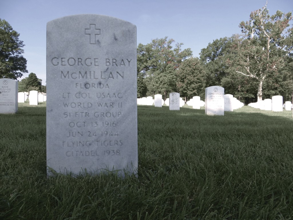 The grave of Lt Col George B. McMillan at Arlington National Cemetery. Author's Photo.